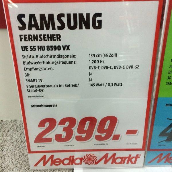 [MM MÜLHEIM] SAMSUNG HU8590 4k für 2399€ + Samsung Galaxy S5 Gratis