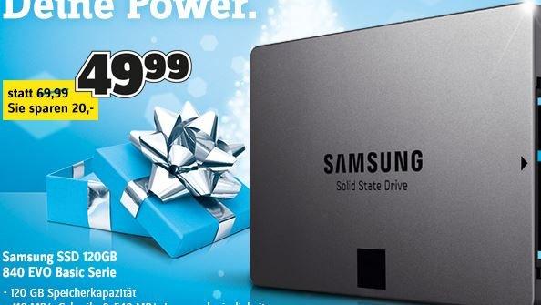 [Conrad-Offline] Samsung 840 EVO SSD 120GB für nur 49,99€ statt 69,99€