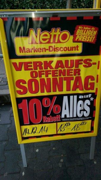 10% Rabatt auf Alles am 14.12.2014 im Netto Bielefeld, Beckhausstraße