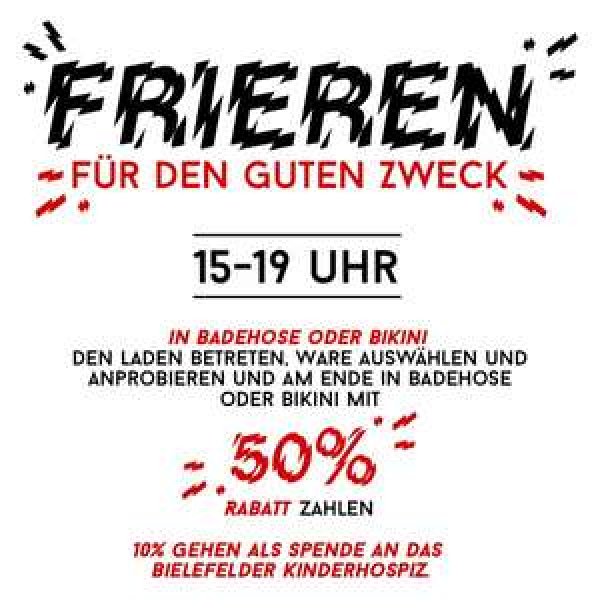 Lokal Bielefeld - Ozone - 40% auf alles. 10% werden zusätzlich gespendet