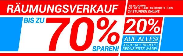 20% Rabatt auf das gesamte Outdoor-Sortiment bei BIWAK Limburg, auch auf bereits reduzierte Ware!