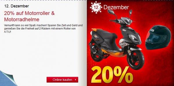 ATU | Adventskalender Freitag | 20% auf Motoroller & Helme