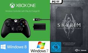 [Amazon.de] PC kompatibel - XboxOne Controller inkl. Play&Charge Kit inkl. The Elder Scrolls V: Skyrim - Legendary Edition 54,07 € / Vergleichspreis 74 € (weitere Bundles siehe Dealtext - The Evil Within usw.)