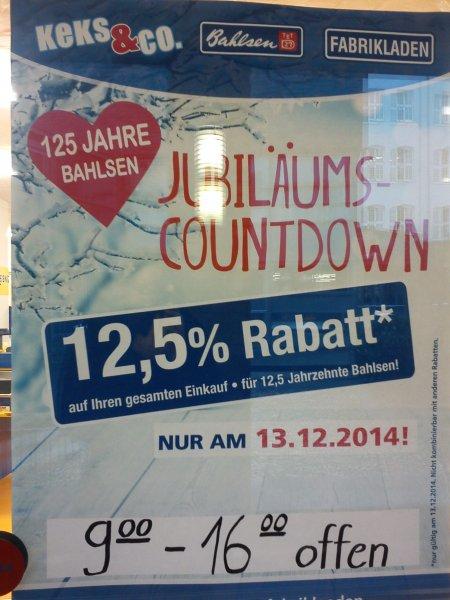 [Offline] Bahlsen Fabrikverkauf 12,5% Rabatt nur am 13.12.2014