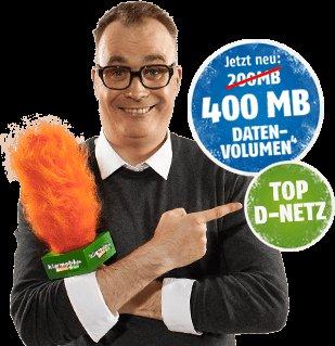 Klarmobil -Vodafone ;100 min; 400MB für 2,95 € pro Monat