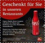 CocaCola Aluflasche gratis bei LeBuffet (Karstadt)