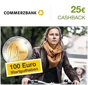 100€ Startguthaben + 25€ Cashback von Qipu Commerzbank Girokonto NEUKUNDEN