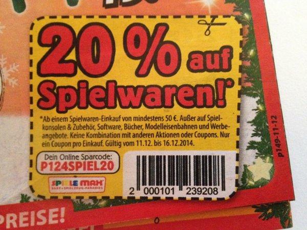 Spiele Max | 20% auf Spielwaren | Prospekt