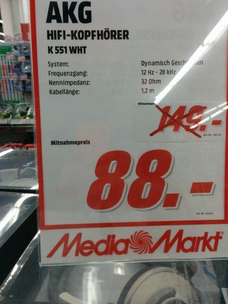 Mediamarkt [lokal?] AKG K 551 WHT (weiß) mit iphone-Steuerung für 88€