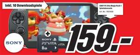 [MM Bayreuth] Sony PS Vita + Mega Pack 1 + 8gb Speicherkarte