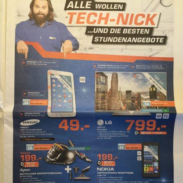 [Lokal Saturn Ingolstadt] Samsung Tablet TAB3 Lite heute von 12-13 Uhr