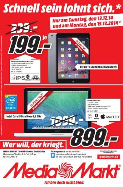 Apple Ipad mini 16 GB und Apple Macbook Pro (MD 101)  lokal Trier