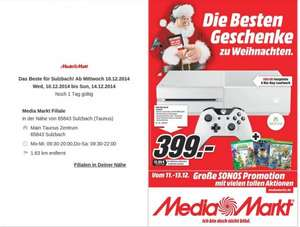 Lokal MM Sulzbach XBox One weiß, incl Sunset Overdrive, Halo Masterchief und Plants vs Zombies