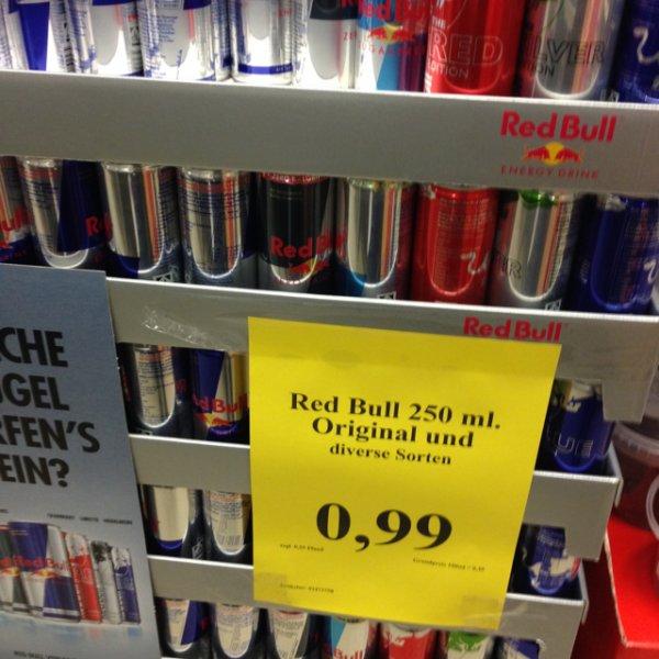 (Lokal) Red Bull verschiedene Sorten EUR 0,99