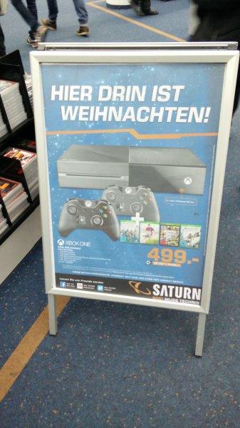 Saturn Ffm MyZeil-Xbox One + Assasins creed unity + Black Flag+GTA V+Fifa15+2.Controller + 3 Monate Xbox live
