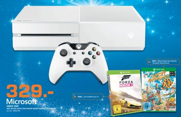 (Lokal Saturn Pforzheim) Xbox One weiß + Sunset Overdrive + Forza Horizon 2