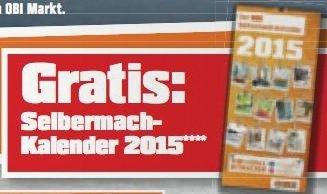 Gratis OBI-Selbermach-Kalender 2015