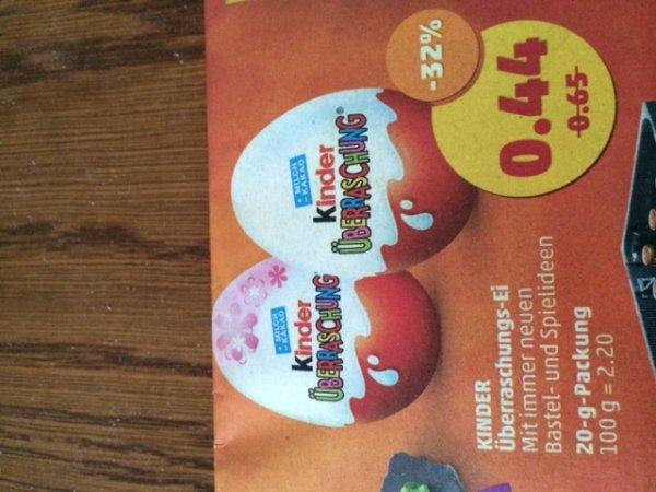 Überraschungs-Ei für 0,44€ bei Penny (deutschlandweit)