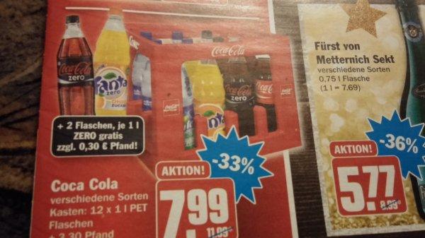 [HIT]  Coca Cola Kiste 7,99€ und zwei Flaschen Zero gratis