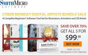 [Smith Micro] Animationsoftware Bundle für 80€ (Poser, Manga Studio, ...)