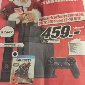 459€ PS4 + Camera + Controller + Call of Duty [Media Markt] Lokal?