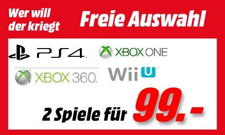 [Offline] MediaMarkt Porta Westfalica --> 2 Spiele für 99€ --> Freie Auswahl für die Spiele --> Playstation 3 --> Playstation 4 --> XBOX 360 --> XBOX ONE --> Wii U