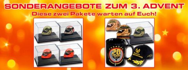 Michael Schumacher ms-paddock-shop X-Mas Special Miniatur Replika Helm, Tasse, Cap, Anstecker, Kühlschrank-Magnet 64,80 € / 84,80 €