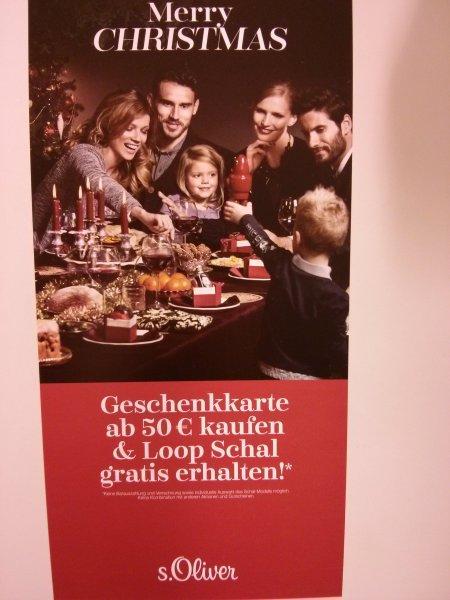[Offline] s.Oliver Geschenkkarte ab 50 Euro kaufen und gratis Loop-Schal dazu bekommen