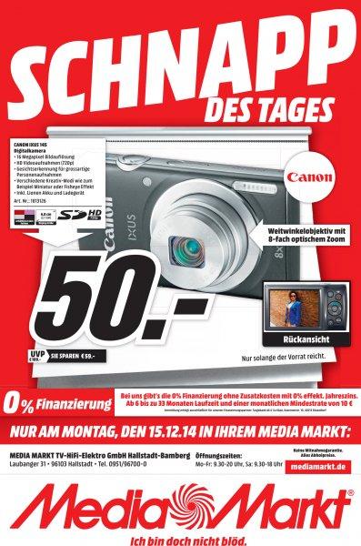 50€ [MM Hallstadt/Bamberg] Canon IXUS 145 - Nur am 15.12.