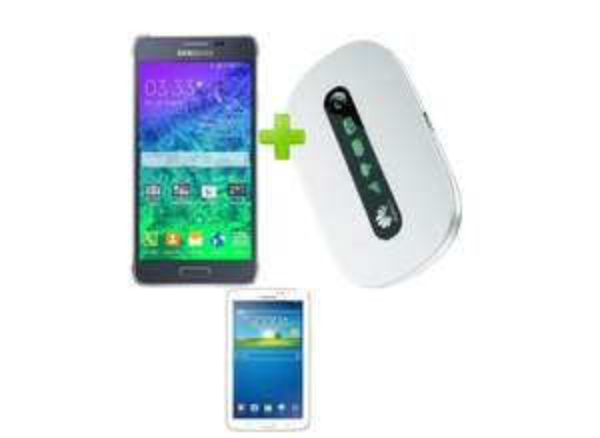 Vodafone Data Go L inkl 6GB LTE(Neue 6 Monate Netflix,oder 3 Monate Bildplus bzw.Deezer)+ Samsung Galaxy Alpha+Galaxy Tab3 7.0 lite 8GB Wifi+Huawei E5330 für (Z.b effektive Kosten 3,53€