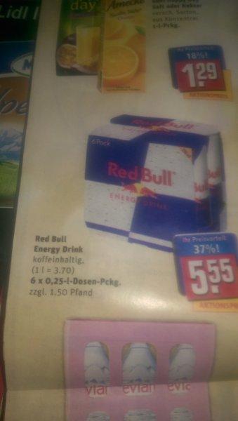 Red Bull, 6er Pack. Rewe, Deutschlandweit