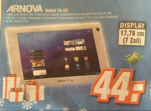 Archos Arnova 7h G3 Tablet mit 4 GB interner Speicher ( erweiterbar bis 32 GB ) Wlan , Android 4.0 für 44 Euro bei allen Expert Klein Märkten ! Idealo 98,15 Euro + Versand