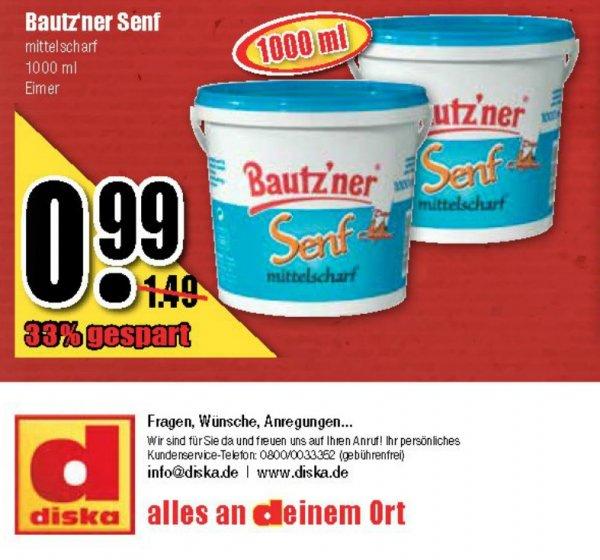 1 Kg. Eimer Bautz`ner Senf bei Diska Sachsen-Thüringen für 0,99€