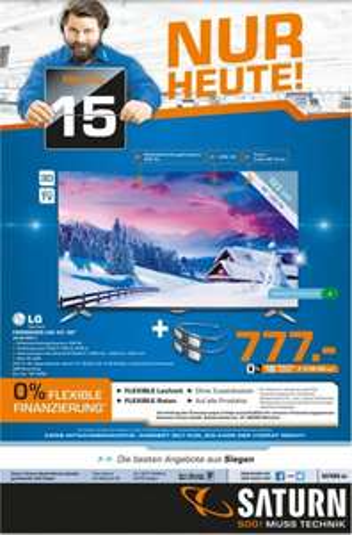 [Saturn Siegen] UHD 3D TV LG 49UB830V für 777,-