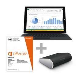 Microsoft Surface 3 Pro 256 GB Tablet PC mit Core? i5 + Type Cover Pro 3 + Office 365 + Wedge Maus über 12% Ersparnis möglich