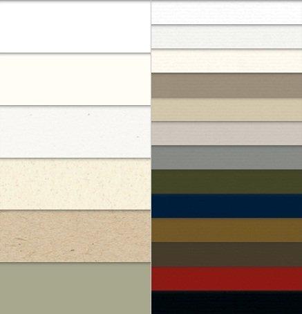DIN A4 Papiermuster in verschiedenen Farben. Gratis/Muster mind. 19 DIN A4 Bögen