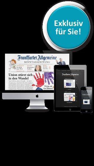 F.A.Z. , digitale Ausgabe für 4 Wochen gratis, automatisch endend