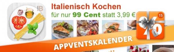 """Premium Koch App """"Italienisch Kochen"""" nur 99 Cent (iOS und Android)"""