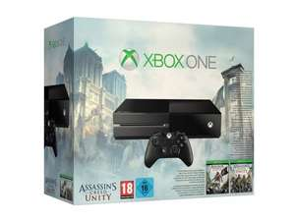 Xbox One + Assassin's Creed: Unity + Assassin's Creed IV : Black Flag für 346,63€ @amazon.fr