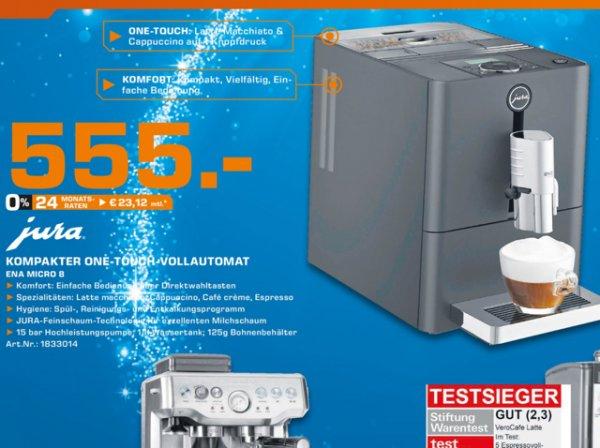 Jura Micro 8 one Touch (Lokal in Karlsruhe) bei Saturn für 555€