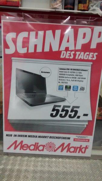 Lenovo Z50-70 i5, 8GB, 1TB, GF 840 für 555€ @ MM Bischofsheim (Lokal)