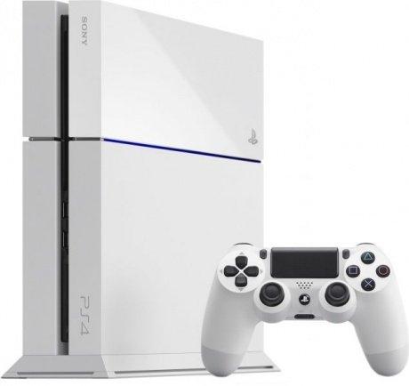 Sony PlayStation 4 500GB weiß inkl. Dual Shock Controller - 15 € Gutschein + 131 € Superpunkte