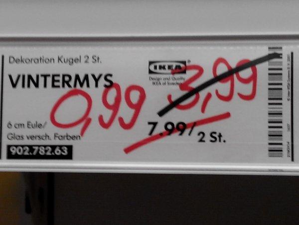 IKEA Frankfurt Weihnachtsmarkt - Christbaumkugeln Glas 2 Stk. 0,99 Cent