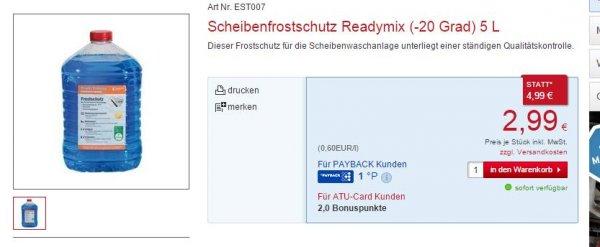 Scheibenfrostschutz Readymix (-20 Grad) 5 L 2.99€ statt 4.99€