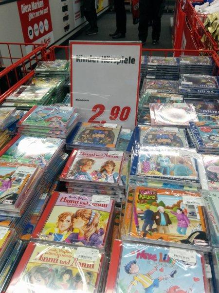 diverse Kinder Hörspiele CDs beim Mediamarkt in Fellbach BW