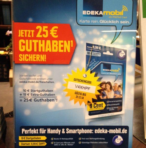 EDEKA karte mit 25€ guthaben für 9,99€