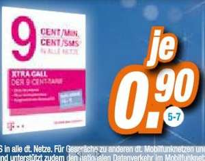 [LOKAL] T-Mobile Xtra card mit 10€ Guthaben - 90cent