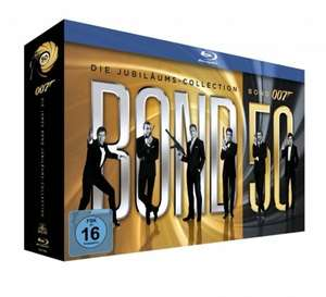 Rakuten Xmas - James Bond Jubiläums-Collection (23 Blu-rays) für 79€ plus 23,70€ in Superpunkten