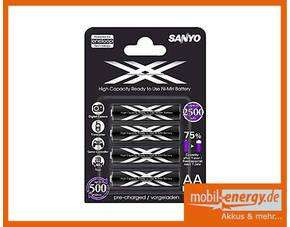 Sanyo XX powered by eneloop Technology HR-3UWX 2500mAh 4x inkl. Versand