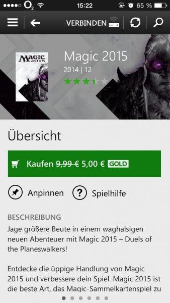[Xbox Live Store]Magic 2015 für 5€ statt 9,99€